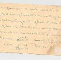 Image of Hand written description of land - Documents