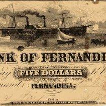 Image of Bank of Fernandina $5 note