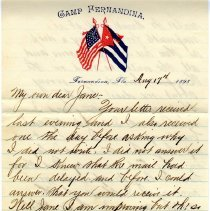 Image of Letter from Corp. S. Davis Groome to Miss E. Jannie Owen dated 08/17/1898 - Letter