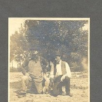 Image of Isaac Flack and Tom Davis (?) - Print, Photographic