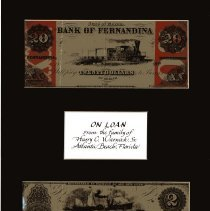 Image of Scrip money issued by railroad in Fernandina, FL