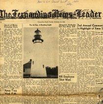 Image of Far At Sea, A Guiding Light from The Fernandina News-Leader, December 19, 1952 - Newspaper