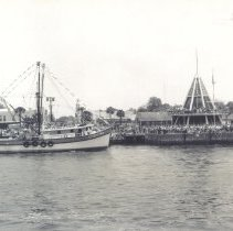 Image of Shrimp boat at Welcome Center - Print, Photographic