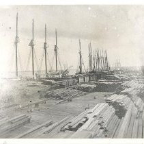 Image of Hill's Crossties and Lumber Docks - Print, Photographic