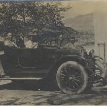 Image of Men and an automobile - Print, Photographic