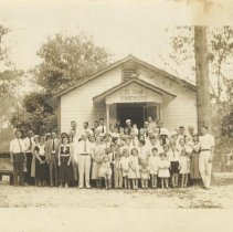 Image of Congregation at St. Paul's Luthern Church in Amelia City - Print, Photographic