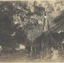 Image of Picnickers in  Amelia City Feb. 3, 1907 - Postcard