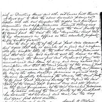 Image of Land deed from Sarah A. Phelan to Augustine Verot, Bishop