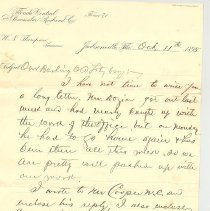 Image of Letter from Lewis Thompson to brother Scott Thompson - Letter