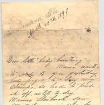 "Image of Letter from Mama to Little ""Baby Bunting"" (probably Lewis Glass Thompson) - Letter"