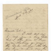 "Image of Letter to ""Lot"" dated April 18th, 1897"