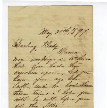 Image of Letter to Lewis G. Thompson May 28th 1897 - Letter