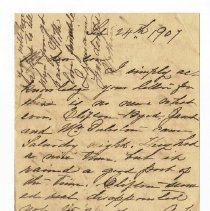 Image of Letter to S. M. Thompson dated Sep 24th 1907 - Letter