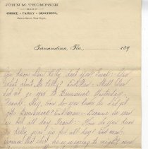 Image of Letter from Mr. W. N. Thompson dated Oct 2nd 1895