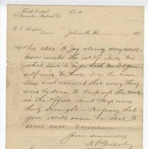 Image of Letter to W. N. Thompson June 10 1896