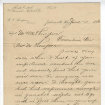 Image of Letter to W. N. Thompson dated June 10 1896 - Letter