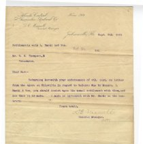 Image of Letter and attachments from D. E. Maxwell and W. N. Thompson - Letter