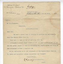Image of Letter from E. D. Lukenbill