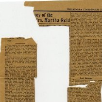 Image of Newspaper clippings about Mary Martha Reid