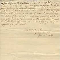 Image of Letter written by Mrs. C. W. Maxwell