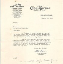 Image of Letter from Casa Marina