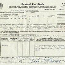 Image of Renewal Certificate