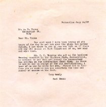 Image of Letter from Saml A. Swann to A. B. Noyes - Letter