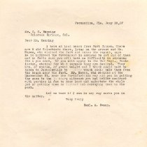 Image of Typed letter