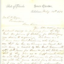 Image of Letter from Senate Chamber