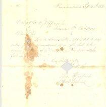 Image of Letter to Capt. Jeffreys