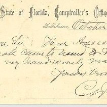 Image of Postcard from Florida Comptroller's Office
