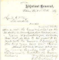 Image of Letter from Adjutant General