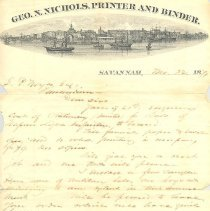 Image of Various letters of correpondence involving Nassau Light Artillery - Letter
