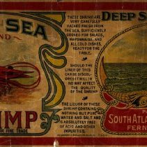 Image of Deep Sea brand Shirmp label