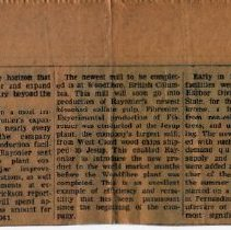 Image of newspaper clipping about Rayonier