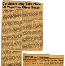 Image of newspaper clippings about lumber industry