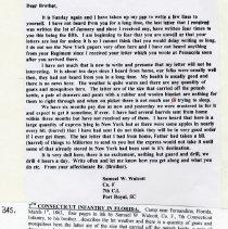 Image of Letter from Samuel W. Walcott
