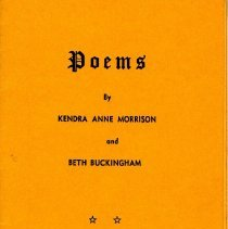 Image of Poems by Kendra Anne Morrison and Beth Buckingham - Pamphlet