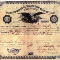 Image of Jacob Brock's certificate
