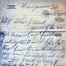 Image of Letter from Alex Coleman