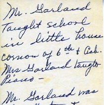 Image of Notes about Mr. Garland