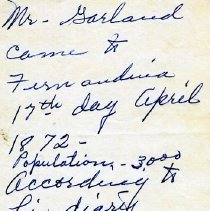 Image of Notes about Mr. Garland - Correspondence