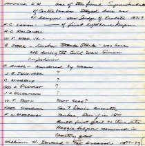 Image of Notes on Nassau Light Artillery members