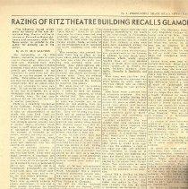 Image of Razing of Ritz Theatre