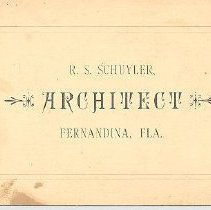 Image of Schuyler's calling card