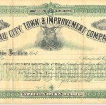 Image of Nassau City stock certificate
