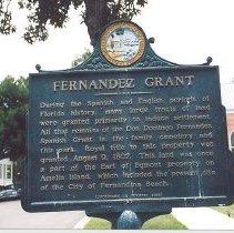 Image of Fernandez Grant historical plaque - Print, Photographic