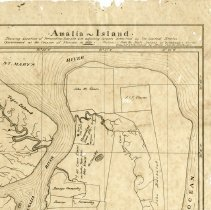 Image of Map of northern end of Amelia Island in 1821 - Map