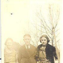 Image of Two women and a man - Print, Photographic