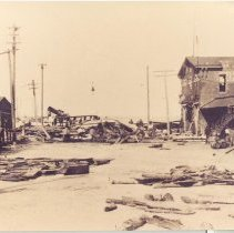 Image of 14th Street in 1898 showing hurricane damage - Print, Photographic